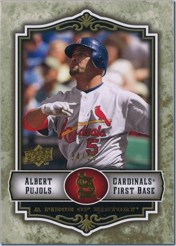 2007 Piece of History Pujols Gold 34 of 50