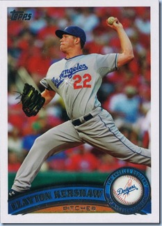 2011 Topps Kershaw Sparkle