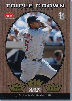 2006 Fleer Trad Pujols Triple Crown