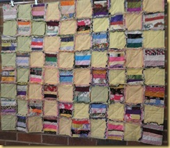colourful raggy quilt