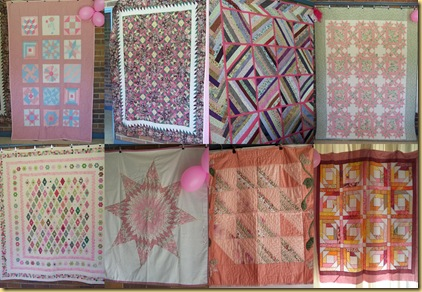 collage pink quilts