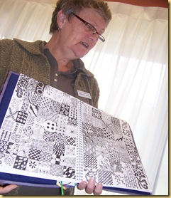 Chris with Zentangles