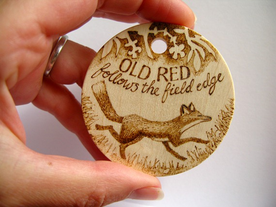 old red fox pyrography 3