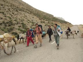 مسیر جاده پای کوه تاراز