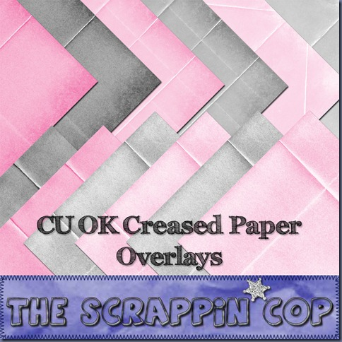 "Free ""Creased Overlays"" from The Scrappin Cop - {CU}"