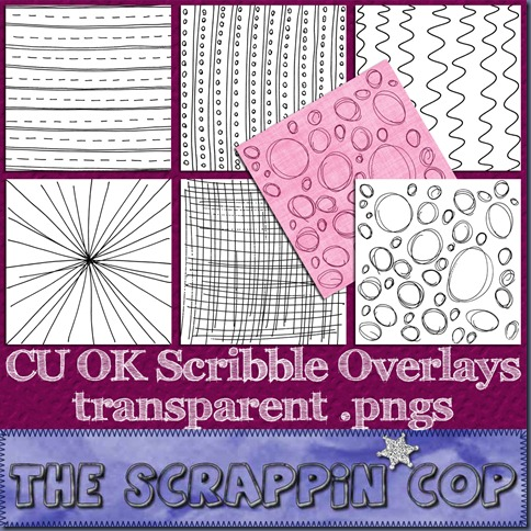 "Free ""Scribble Overlays"" from The Scrappin Cop - {CU}"