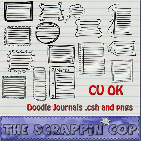 http://thescrappincop.blogspot.com/2009/11/cu-ok-journal-doodles.html