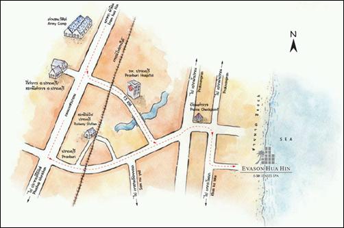 خريطة تايلاند هواهين