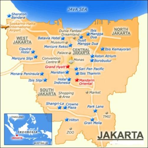 خريطة جاكرتا