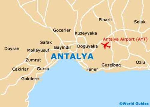 خريطة انطاليا