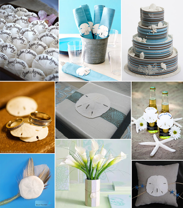 paper olive • the blog: beach wedding ideas • sand dollars