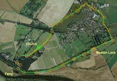 Route around Weston Village
