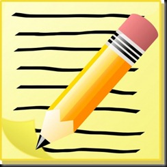sephr_notepad_with_text_and_pencil_clip_art_9539