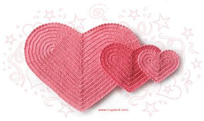 valentine craft: heart crochet pattern