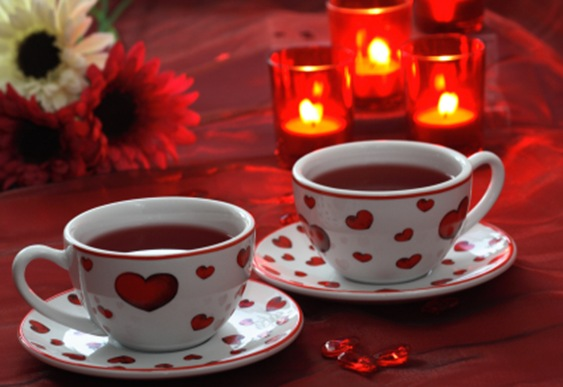 Valentine tea for two