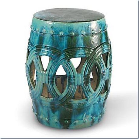 turquoise garden stool benzgem