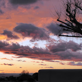 Sunset from the Patio by Rick Cormier - Landscapes Sunsets & Sunrises ( eldorado, cottonwood, colors, sunset, santa fe )