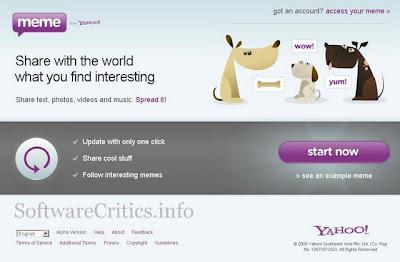 Yahoo Meme Homepage