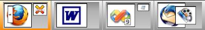 Four Possible Virtual Desktops in WindowsPager
