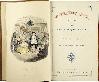 Charles Dickens - A Christmas Carol-Title page First edition 1843