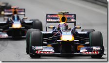 Mark Webber con la Red Bull