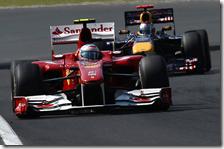 Alonso davanti a Vettel nel gran premio d'Ungheria 2010