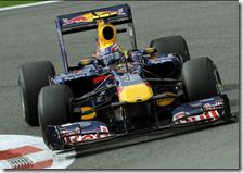 Webber nelle qualifiche del gran premio del Belgio 2010