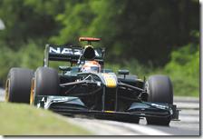 Kovalainen al volante della Lotus