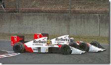 L'incidente tra Senna e Prost nel 1989