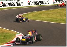 Vettel davanti a Webber nel gran premio del Giappone