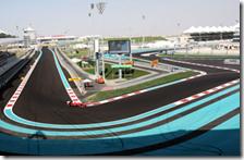 Un tratto del circuito di Abu Dhabi