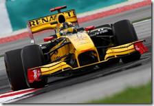 Kubica al volante della Renault