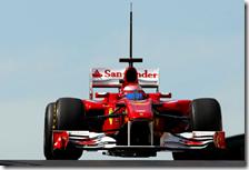 Massa con la Ferrari nei test di Abu Dhabi