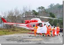 Robert Kubica viene trasportato in elicottero in ospedale
