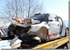 Skoda Fabia S2000 di Kubica dopo l'incidente