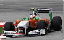 Di Resta al volante della Force India nel gran premio della Malesia 2011