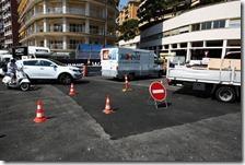 Il tratto di strada ripristinato a Montecarlo