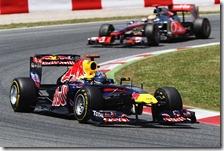 Vettel e Hamilton nel gran premio di Spagna 2011