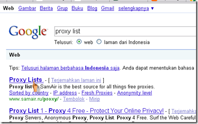 Apa dan Bagaimana menggunakan Proxy