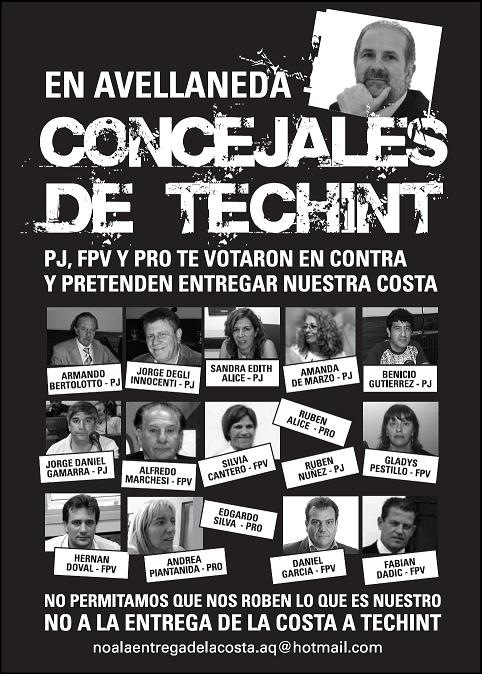 afiche avellaneda no a techint