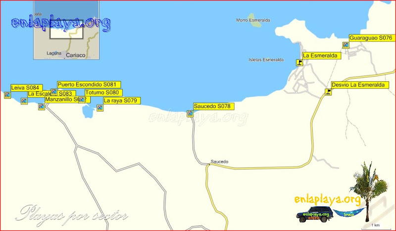 Cariaco - Playas desde Leiva hasta Guaraguao
