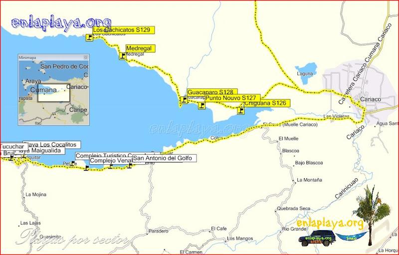 Mapa Chiguana - Desde Chiguana hasta Loa Cachicatos