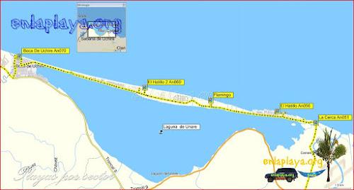 Boca de Uchire - Playas desde El Hatillo hasta Boca de Uchire