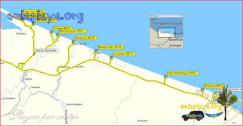 Machurucuto - Playas desde Pintada hasta Porto Fino
