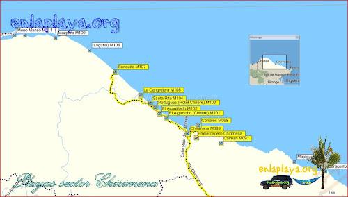 Chirimena - Playas desde Caiman hasta Banquito