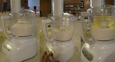 Pulsing flour Adding Butter
