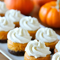 Mini Pumpkin Cheesecakes