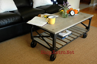 Brooklyn Coffee Table, Vintage 40s French Industrial inspired design, http://shop.retro.net/?p=132