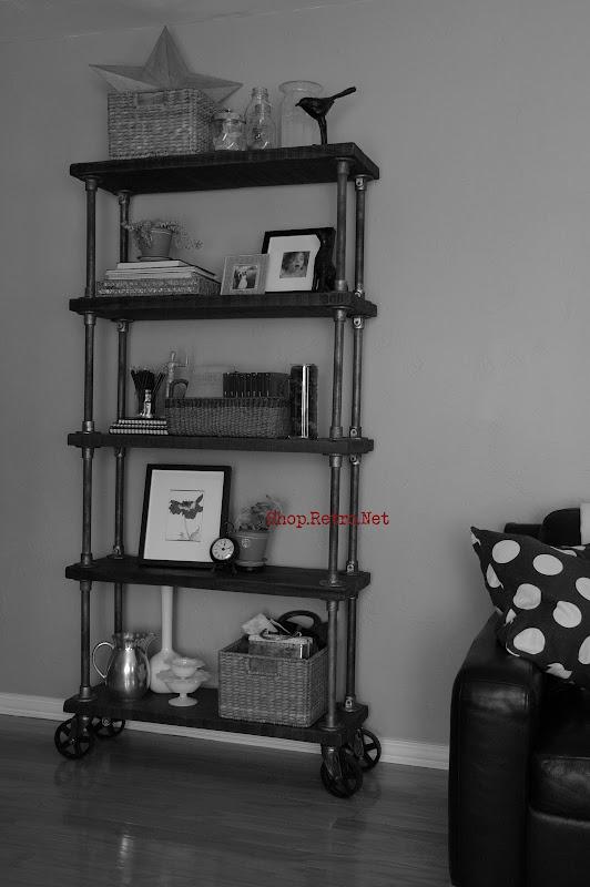 vintage industrial bookcase    308 shelf