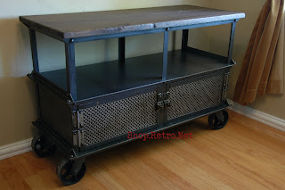French Industrial LCD Stand, Plasma Stand, TV Stand, Media Console, Entertainment center. - http://shop.retro.net/?cat=45